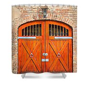 Carriage House Doors Shower Curtain