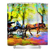 Carriage Rides Series 02 Shower Curtain
