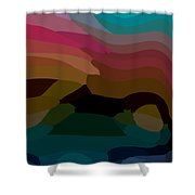 Carribbean Dusk Shower Curtain