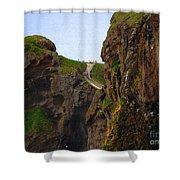 Carrick-a-rede Bridge IIi Shower Curtain