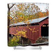 Carrollton Covered Bridge Shower Curtain
