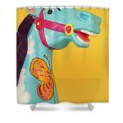 Carrosel Horse Shower Curtain