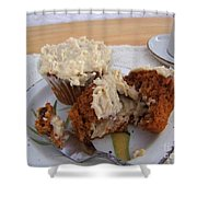 Carrot Muffins Shower Curtain