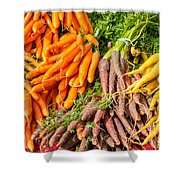 Carrots At The Market Shower Curtain