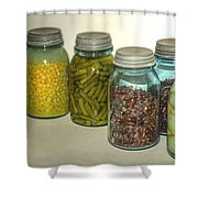 Carrots Vintage Kitchen Glass Jar Canning Shower Curtain
