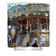 Carrousel De Paris Shower Curtain