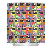 Cars Abstract  Shower Curtain