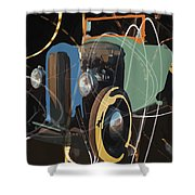 Cars And Stars Shower Curtain