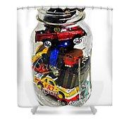 Cars In A Jar Shower Curtain