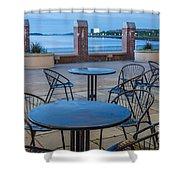 Carson Beach Cafe Shower Curtain