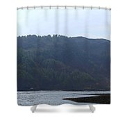 Cartoon - Loch Duich And The Surroundings In Scotland Shower Curtain