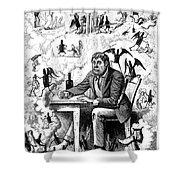Cartoon Alcoholism, 1874 Shower Curtain
