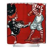 Cartoon Football, 1901 Shower Curtain