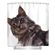 Cartoon Gracie Shower Curtain