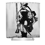 Cartoon: Hessian Soldier Shower Curtain