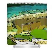 Cartoon Lizard Shower Curtain