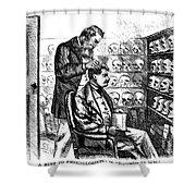 Cartoon: Phrenology, 1865 Shower Curtain