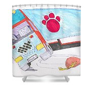 Cartoon Truck Lorry Shower Curtain