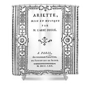 Cartouche, 1765 Shower Curtain