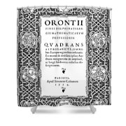 Cartouches, 1534 Shower Curtain