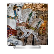 Caruosel Horses Shower Curtain