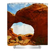 Carved By The Winds Of Time Shower Curtain