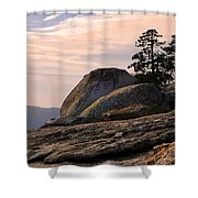 Carved Granite Shower Curtain