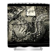 Carved Naga At Banteay Srey Shower Curtain