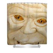 Carved Pumpkin Face Shower Curtain