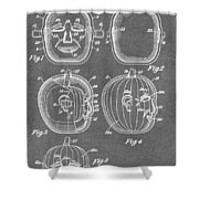 Carved Pumpkin Patent Shower Curtain