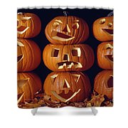 Carved Pumpkins  Shower Curtain