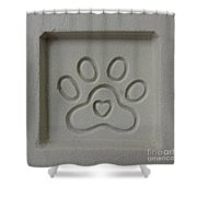 Carved Sand Paw Print Shower Curtain