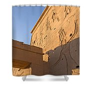 Carved Wall Of The Temple  Philae  Shower Curtain