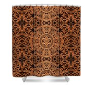 Carved Wooden Cabinet Symmetry Shower Curtain