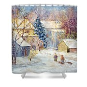 Carversville Snow Shower Curtain