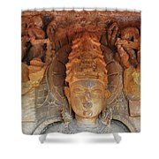 Statue At The Temple Of The 64 Yoginis - Jabalpur India Shower Curtain
