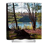Cary Lake In The Fall Shower Curtain