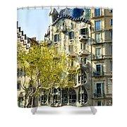 Casa Batllo - Barcelona Spain Shower Curtain