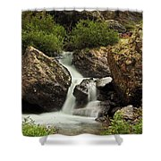 Cascade In Lower Ice Lake Basin Shower Curtain
