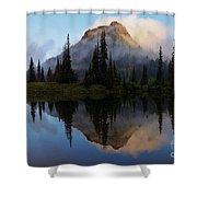 Cascade Mirror Shower Curtain by Mike  Dawson