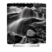 Cascades In Black And White Shower Curtain