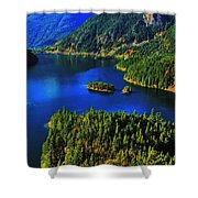 Cascades Lake Shower Curtain