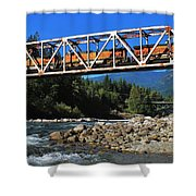 Cascades Rail Bridge Shower Curtain