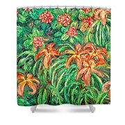 Cascading Day Lilies Shower Curtain