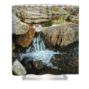 Cascading Downward Shower Curtain