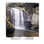 Cascading Into A Pool Shower Curtain