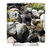 Cascading Water Shower Curtain