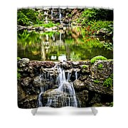 Cascading Waterfall And Pond Shower Curtain by Elena Elisseeva