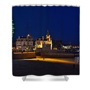 Cascais By Night - Portugal Shower Curtain