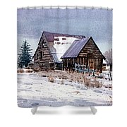 Cache Valley Barn Shower Curtain
